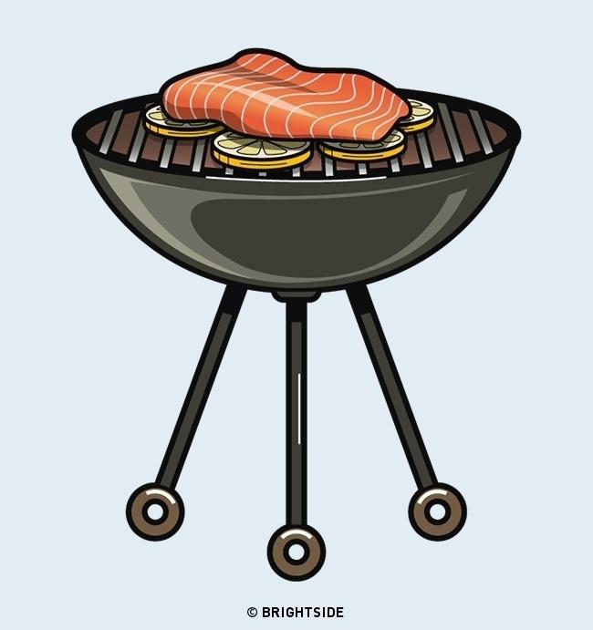 Sử dụng chanh để cá không đính vào lò nướng