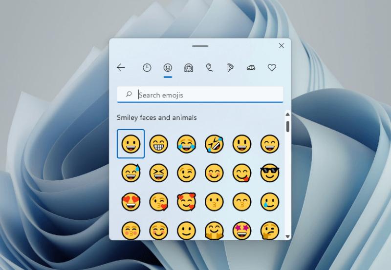 Phông chữ và biểu tượng cảm xúc Windows 11