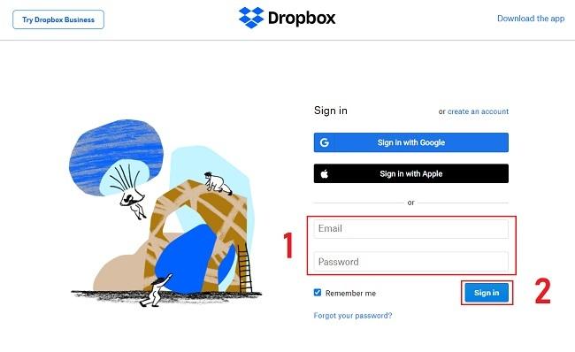 Cách sử dụng Dropbox trên trình duyệt