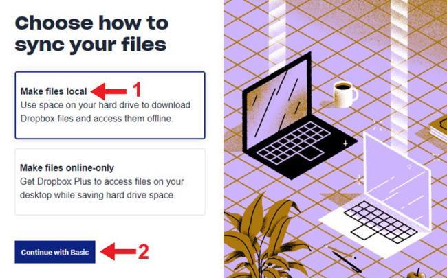 Chọn phương thức đồng bộ dữ liệu trên máy tính