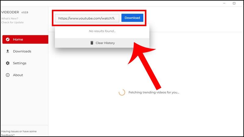 Dán link video Youtube muốn tải với chất lượng 4K vào khung