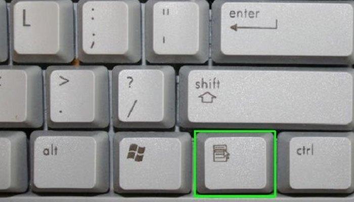 Phím Context Menu trên bàn phím máy tính chức năng tương tự chuột phải