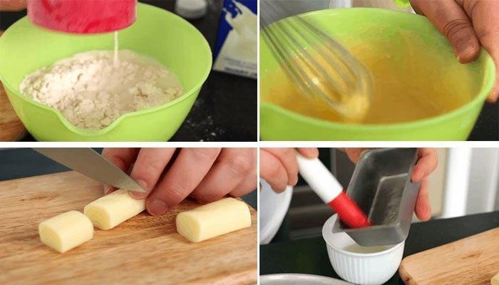 Làm bánh trứng lòng đào phô mai với lò nướng