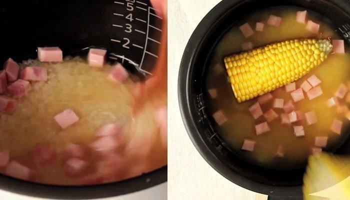 Vo gạo trong nồi cơm điện