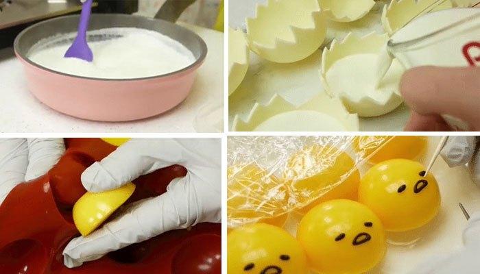 Lấy trứng ra khỏi tủ lạnh và vẽ mặt cho trứng