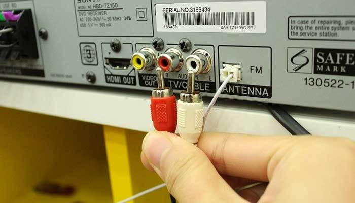 Kết nối cổng audio với dàn máy Sony
