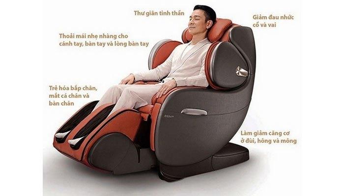 Ghế massage làm giãn các bệnh về cơ