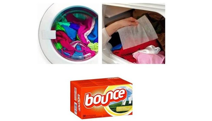 Sử dụng giấy thơm khi dùng máy sấy quần áo