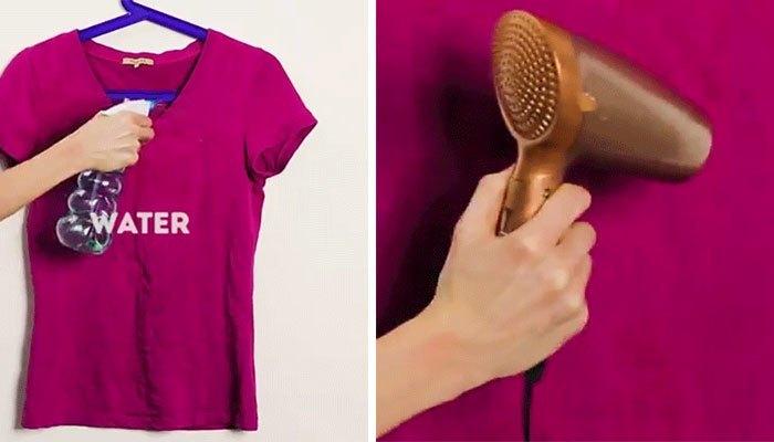 Máy sấy tóc có thể làm phẳng quần áo