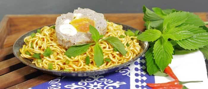 Thành quả của món bò viên trứng muối khổng lồ
