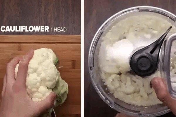 Xay hoa lơ trắng với máy xay sinh tố