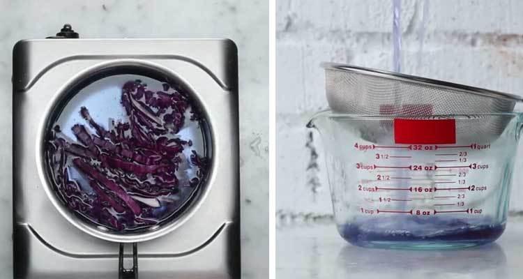Nấu rau cải trên bếp gas để làm món Mojito Galaxy