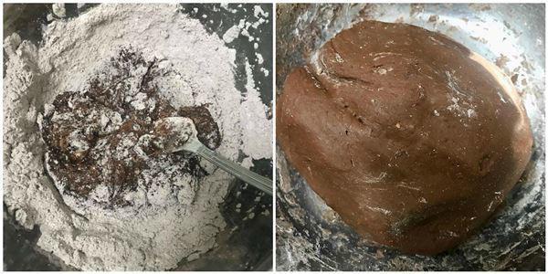 Trộn bột làm trân châu