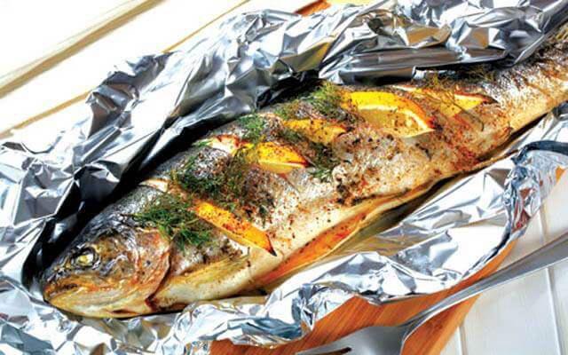 Cách nướng cá giấy bạc bằng nồi chiên không dầu