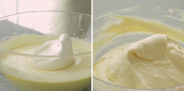 Trộn lòng đỏ với lòng trắng trứng
