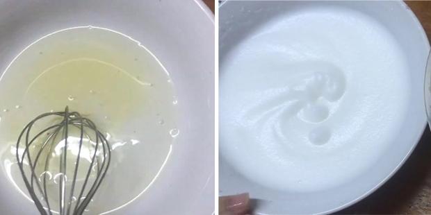 Đánh bông lòng trắng trứng bằng máy đánh trứng