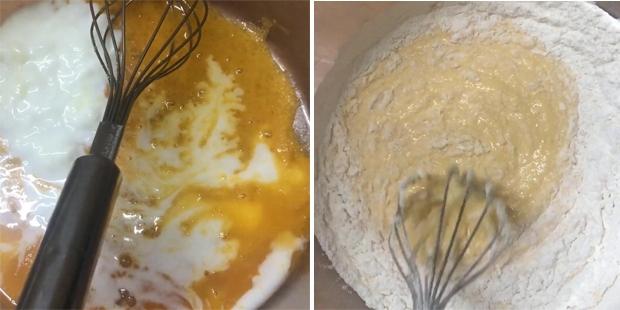 Đánh bông lòng đỏ bằng máy đánh trứng