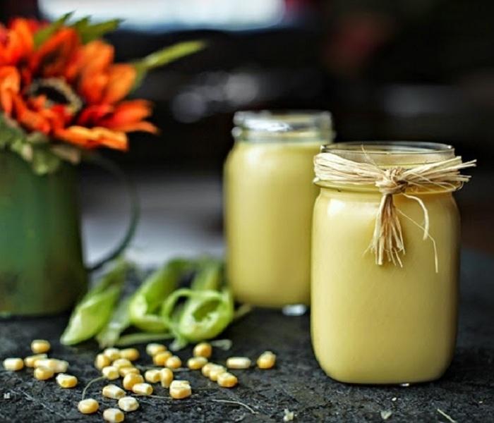Cách làm sữa hạt sen và bắp nếp