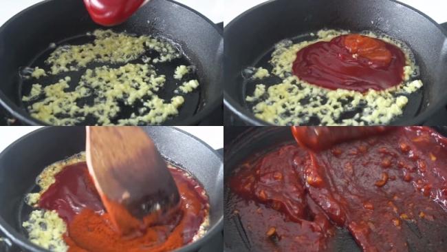 Sốt tỏi ớt cay Hàn Quốc chấm thịt gà chiên