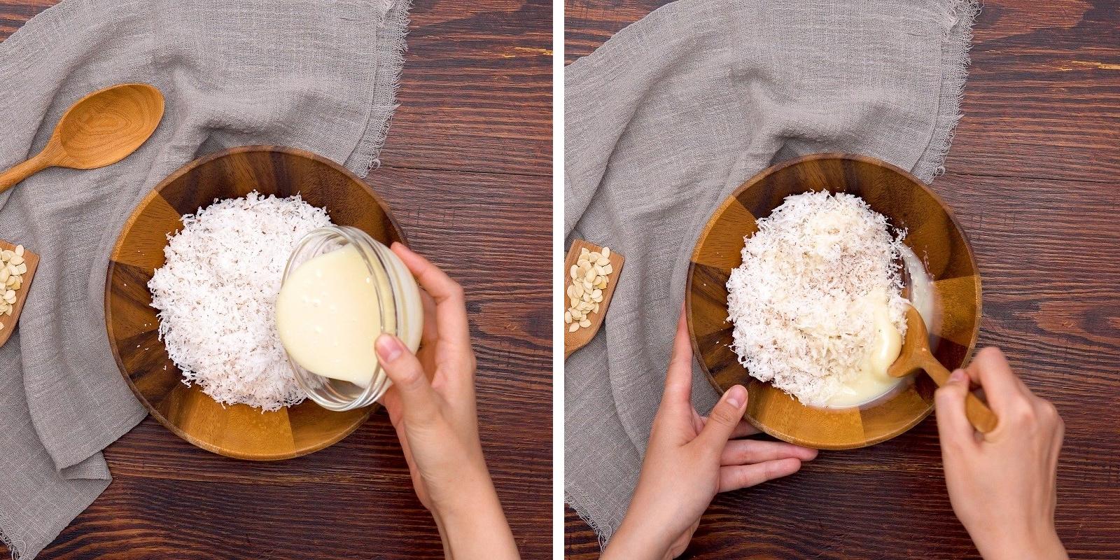 Làm nhân sữa dừa bánh Trung Thu