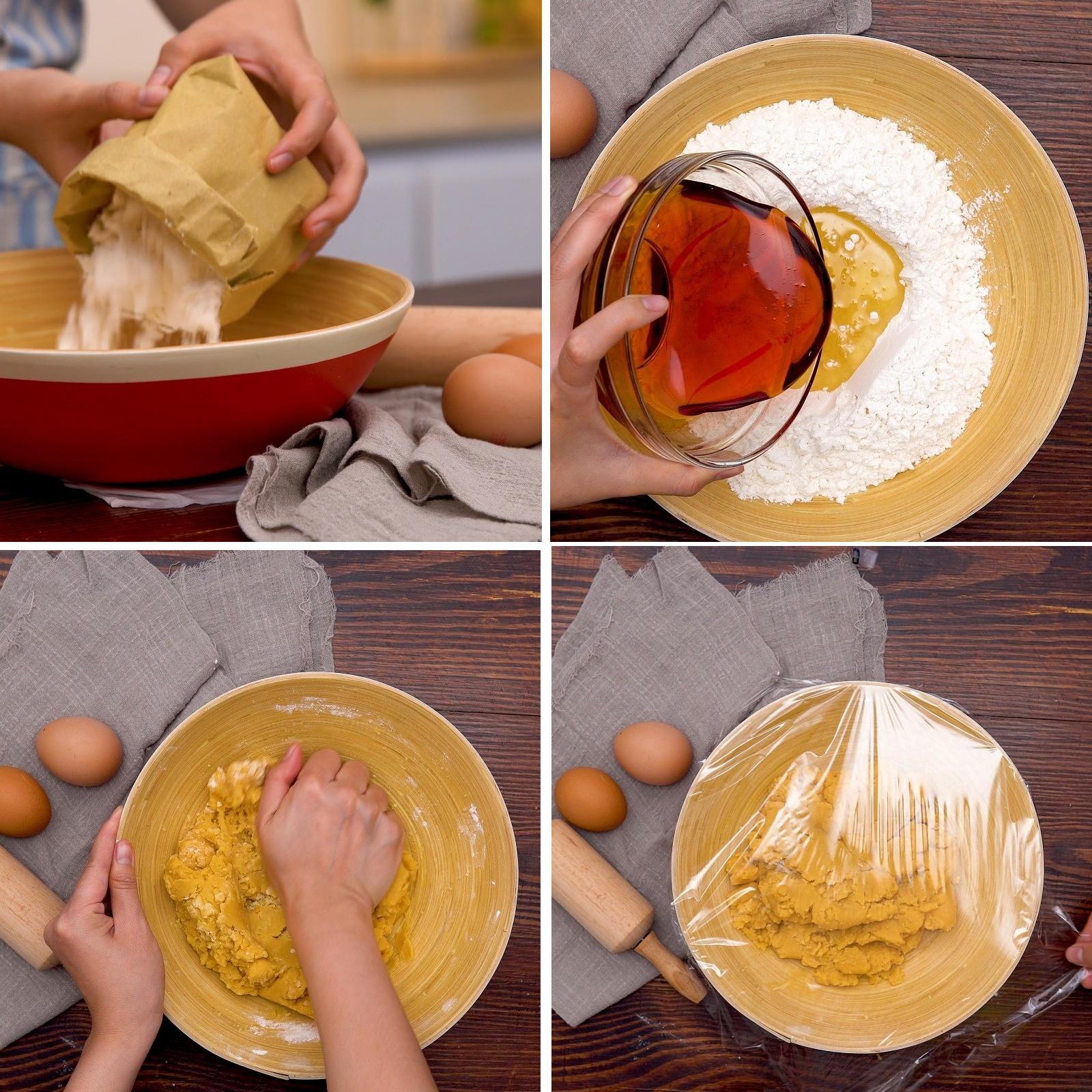 Làm vỏ bánh Trung Thu nhân sữa dừa