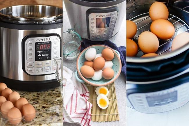 Cách luộc trứng lòng đào bằng nồi áp suất