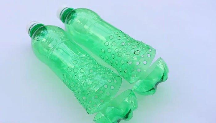 Và đây là 2 chai nước đã hoàn thành