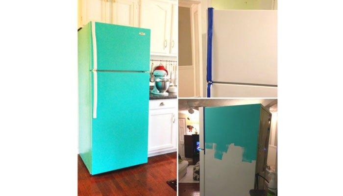 Sơn màu tủ lạnh