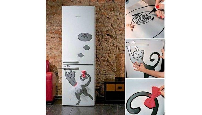Vẽ lên tủ lạnh