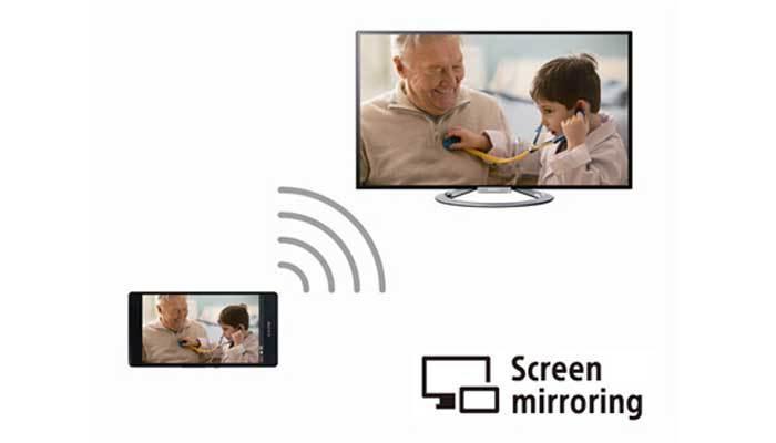 Screeen Mirroring giúp kết nối điện thoại với tivi Sony dễ dàng