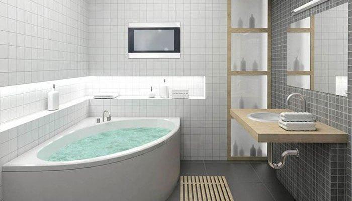 Để tivi trong phòng tắm dễ làm ẩm linh kiện
