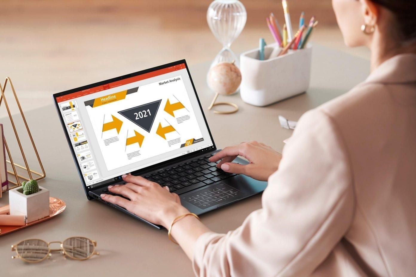 Laptop Asus Zenbook có thiết kế ấn tượng