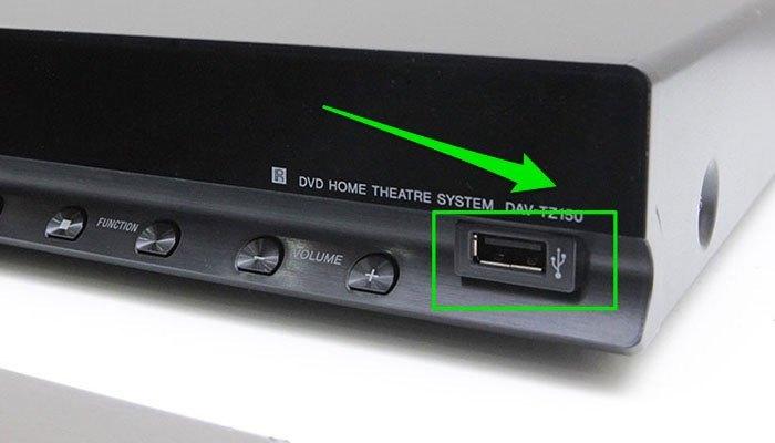 Cổng USB trên dàn máy nghe nhạc