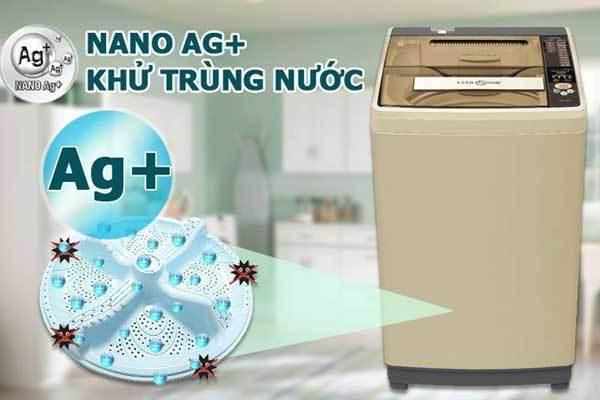 Công nghệ kháng khuẩn khử mùi tích hợp trên máy giặt Aqua