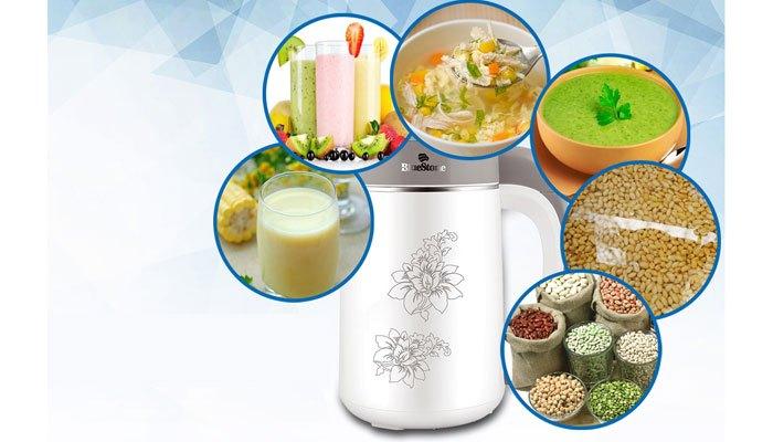 Máy làm sữa đậu nành còn có thể làm sinh tố, cháo và các loại sữa khác