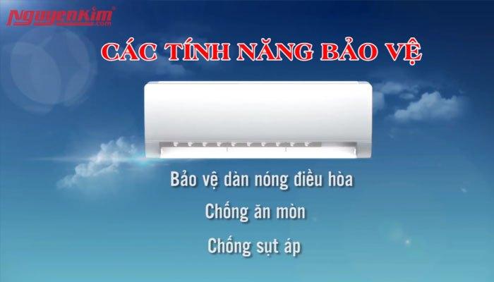 Chọn máy lạnh bạn nên chọn thêm các tính năng bảo vệ để tăng độ bền cho máy