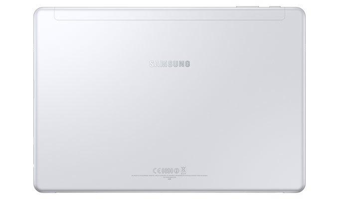 Mặt lưng màu bạc của máy tính bảng Galaxy Book sang trọng, thời thượng