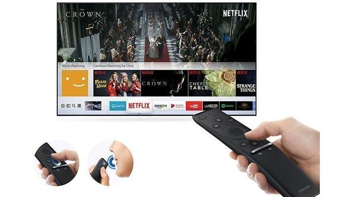 Điều khiển trên tivi LED Samsung MU6300