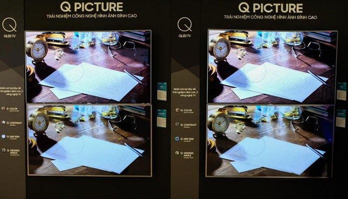 Samsung đã không ngần ngại so sánh chất lượng ảnh của tivi QLED so với các loại tivi LED khác