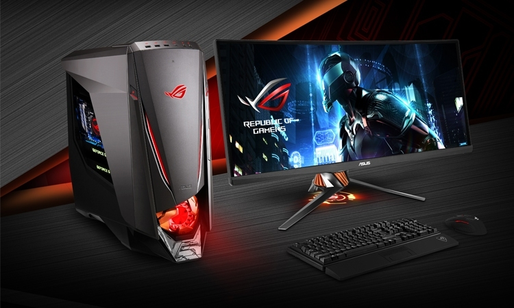 Máy tính để bàn ASUS ROG GT51CA có thiết kế khá ấn tượng với nhiều cạnh vát sắc nét