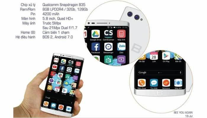 Cấu hình của điện thoại BPhone 2 mạnh mẽ