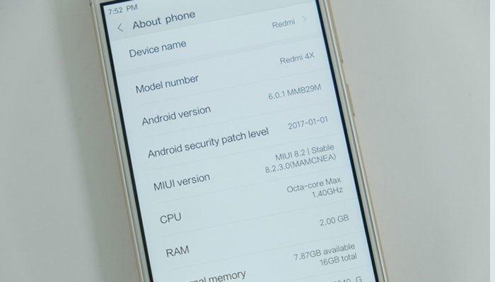 Điện thoại Xiaomi Redmi 4X cấu hình khá