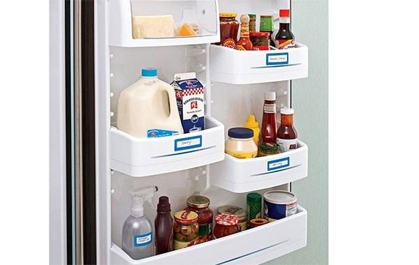 Ghi nhãn cho thực phẩm để trong tủ lạnh