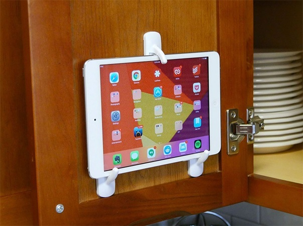 Vị trí lý tưởng để đặt chiếc máy tính bảng của bạn trong nhà bếp