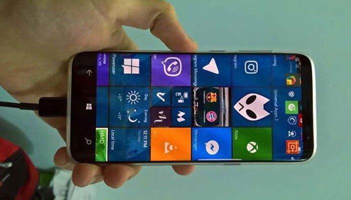 Liệu chiếc điện thoại Galaxy S8 chạy hệ điều hành Windows 10 Mobile là hình ảnh thật hay chỉ là cắt ghép?