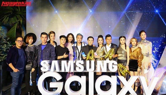 Các nghệ sĩ có mặt tại buổi ra mắt cặp đôi điện thoại Samsung Galaxy A 2017