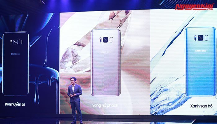Các màu sắc của điện thoại Galaxy S8