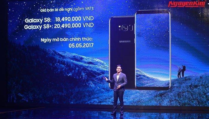 Giá bán điện thoại Galaxy S8 và S8 Plus