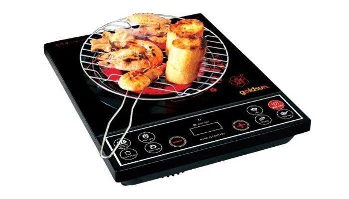 Bếp hồng ngoại Goldsun giúp nấu nướng nhanh chóng