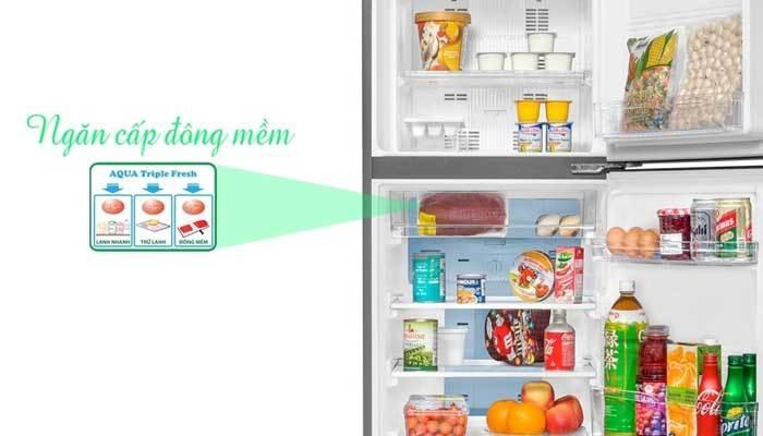Tủ lạnh Aqua có ngăn cấp đông mềm hiện đại